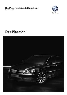 VW Phaeton September 2010