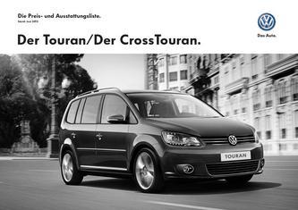 VW Touran/CrossTouran Preis- und Ausstattungsliste Juni 2013
