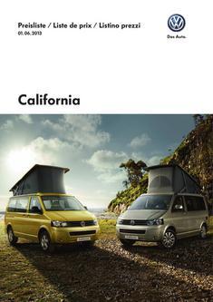 Preisliste VW California 01. 06. 2013