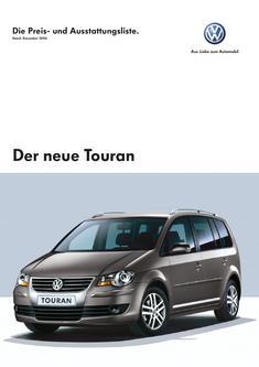 Volkswagen Touran Preisliste 2006