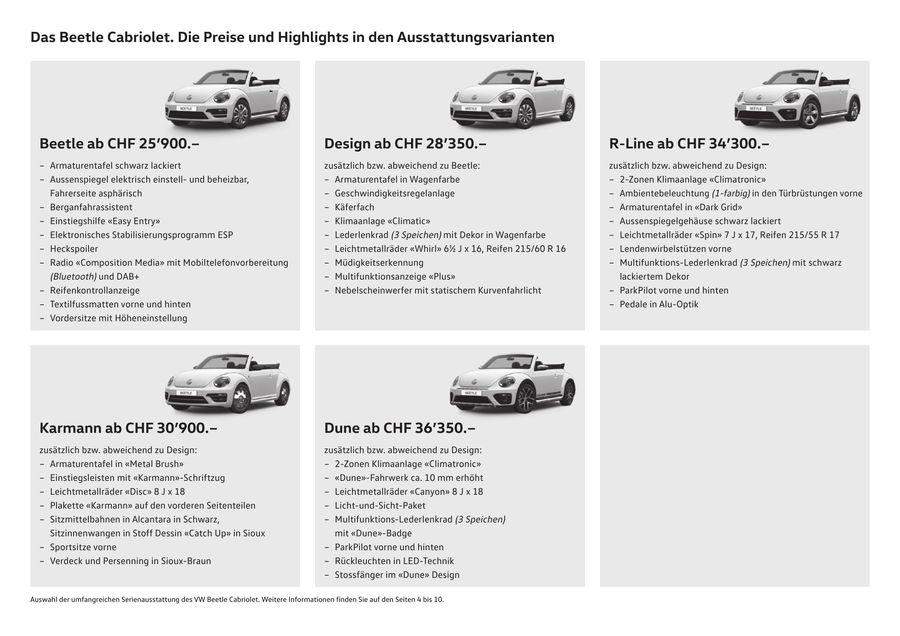 vw beetle cabriolet preis- und ausstattungsliste oktober 2017 von