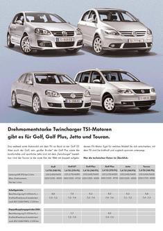 VW Golf TSI Katalog