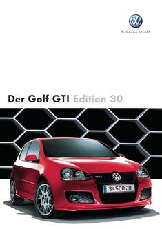 VW Golf Edition 30 Katalog
