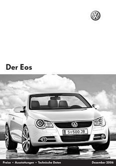 VW Eos Preise 2006