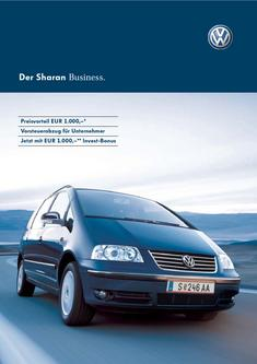 VW Sharan Business Katalog