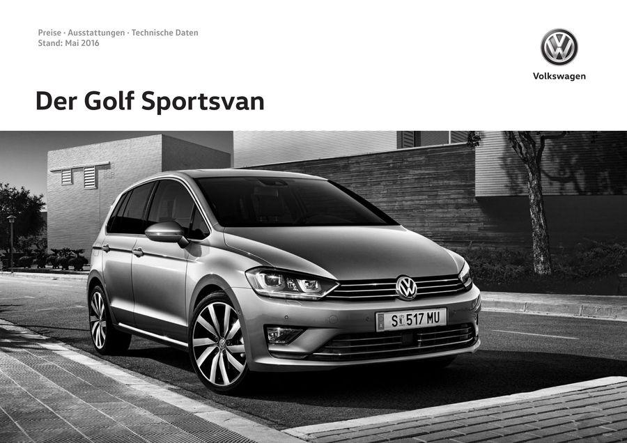 volkswagen golf sportsvan technische daten automobil. Black Bedroom Furniture Sets. Home Design Ideas