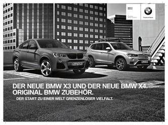 Zubehör BMW X3 (11/2010-) X4 (07/2014-) 2014 Preisliste