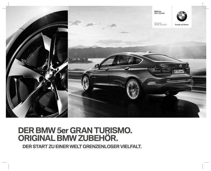 BMW 5ER GT PREISLISTE PDF DOWNLOAD