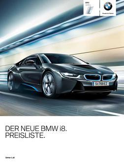 BMW i8 Preisliste 2014