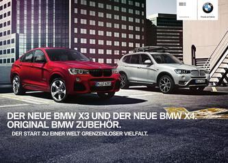 BMW Zubehör X3 / X4 Katalog 2014