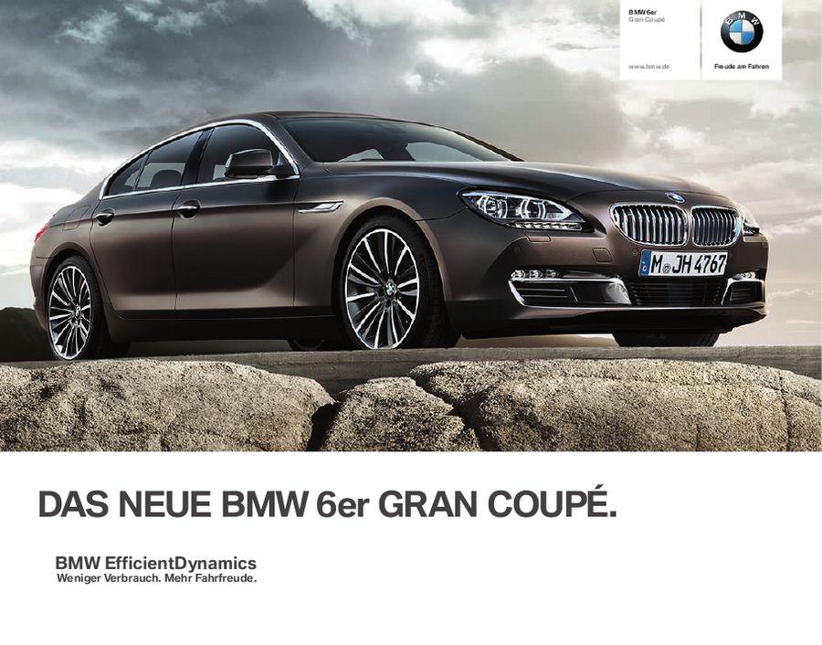 bmw 6er gran coupé 2012 von bmw austria gmbh