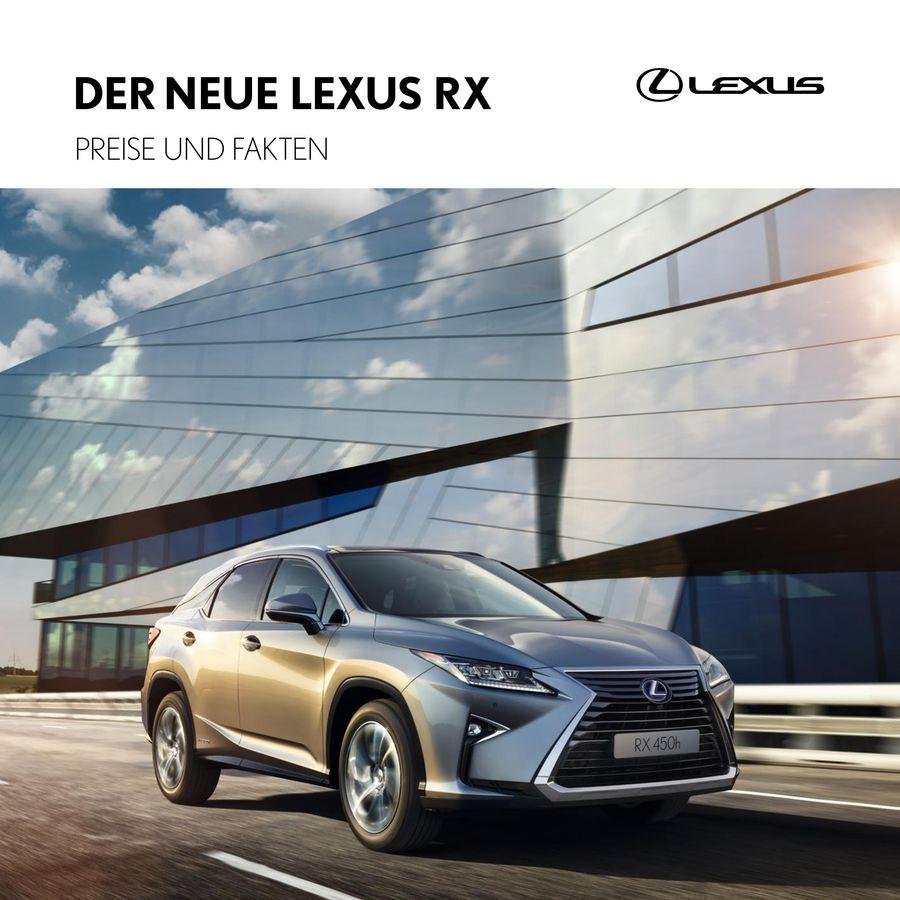 versicherung lexus rx 450h