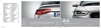 Audi A4 Berlina | A4 Avant | A4 allroad quattro 2014 (Italienisch)