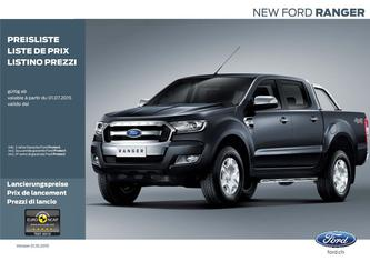 Ford New Ranger Preisliste 2016