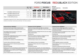 Focus Red and Black Edition Preisliste 2016