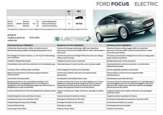 Focus Electric Preisliste 2016