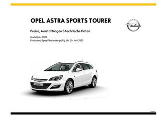 Astra Sports Tourer Preisliste 2015