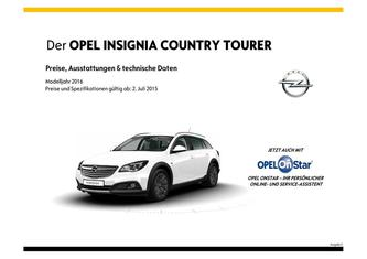 Insignia Country Tourer Preisliste 2015