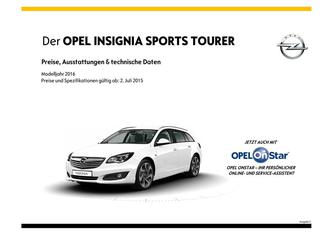 Insignia Sports Tourer Preisliste 2015