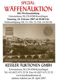 Spezial-Waffenauktion SIG Werkssammlung