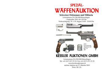 Spezial-Waffenauktion Schweizer Ordonnanz und Militaria