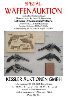 3. Schweizer Ordonnanz und Militaria Spezial-Waffenauktion