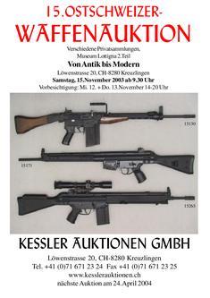 15. Ostschweizer - Waffenauktion Katalog