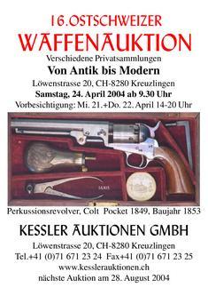 16. Ostschweizer Waffenauktion