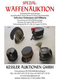 4. Schweizer Ordonnanz und Militaria Spezial Waffenauktion