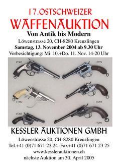 17. Ostschweizer Waffenauktion Katalog