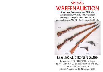 5. Spezial-Waffenauktion Schweizer Ordonnanz und Militaria