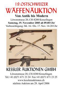 19. Ostschweizer Waffenauktion Auktionskatalog