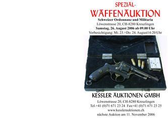 Katalog der 6. Ordonnanz und Militaria Spezial Waffenauktion