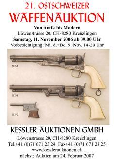21. Ostschweizer Waffenauktion Katalog