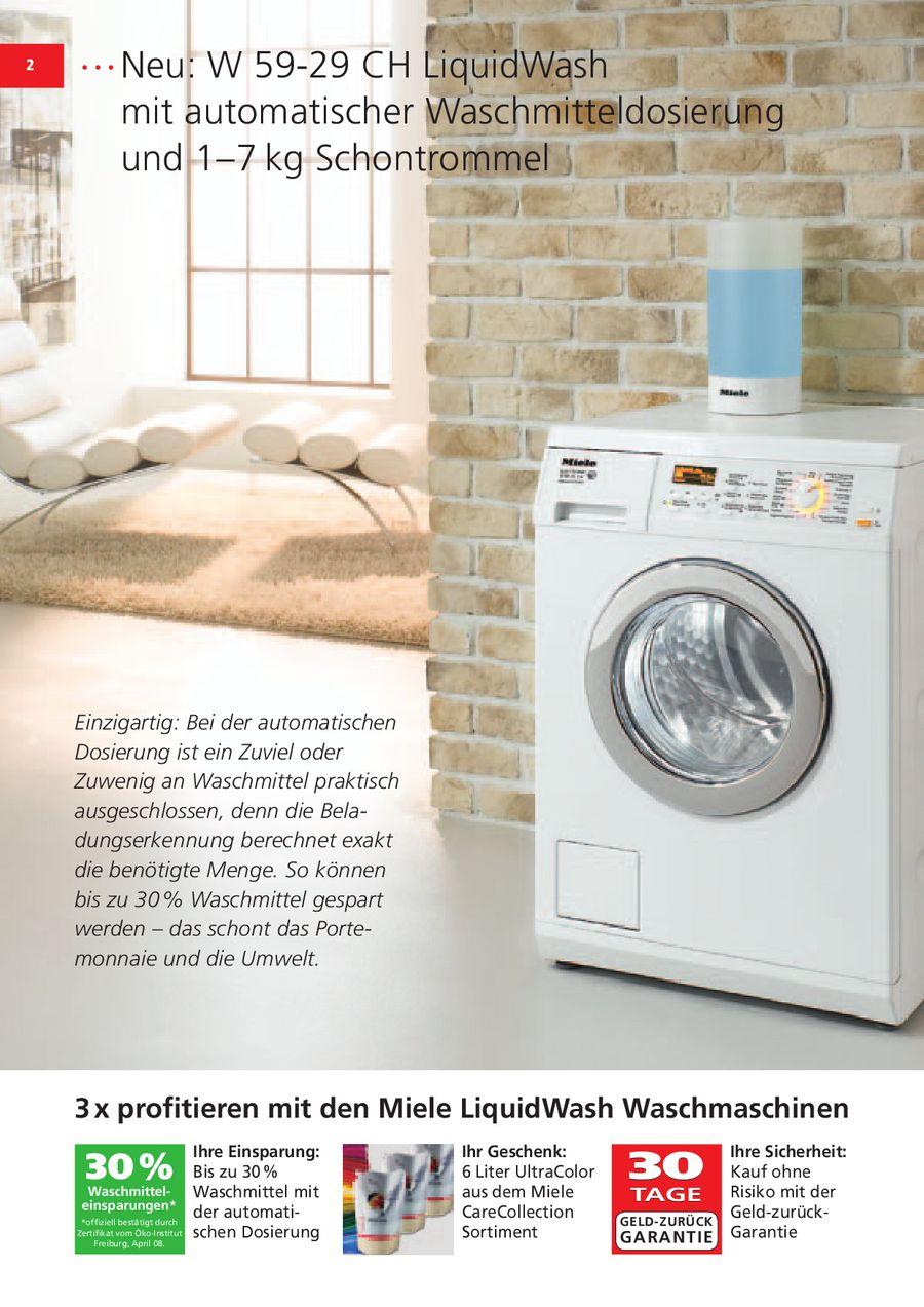 kopfkissen waschen in miele waschmaschinen