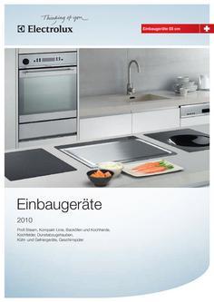 Electrolux Einbaugeräte Schweizer Masssystem 55cm
