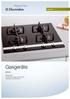 Electrolux Gasgeräte - Einbau- und Standmodelle