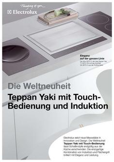 induktion kochfeld wok in electrolux teppan yaki mit touch. Black Bedroom Furniture Sets. Home Design Ideas