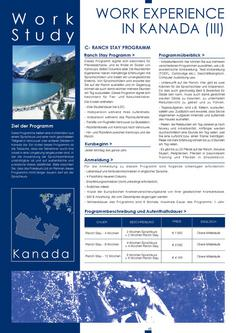 Work Experience in Kanada III 2011