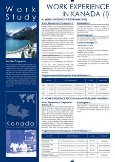Work Experience in Kanada I 2011