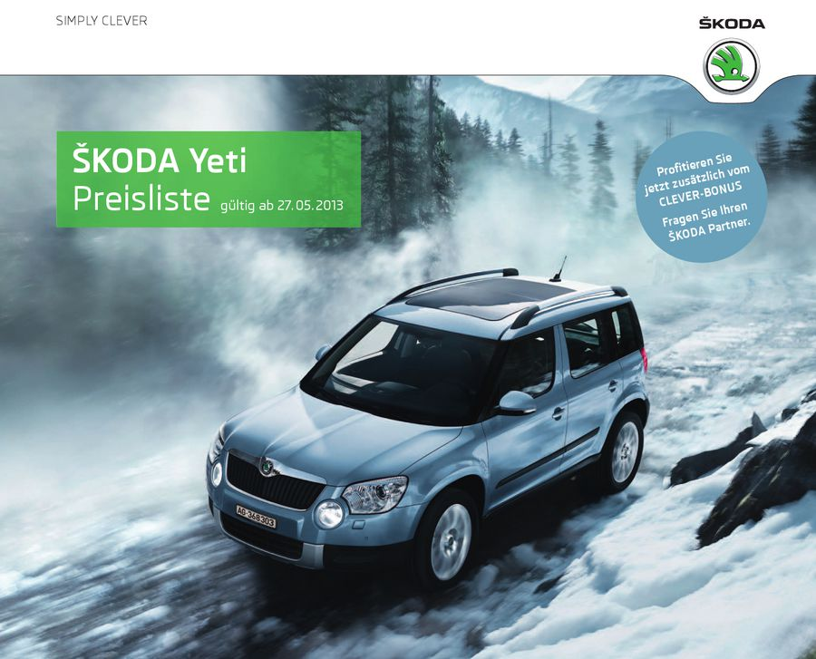 skoda yeti preisliste 2013 pdf. Black Bedroom Furniture Sets. Home Design Ideas