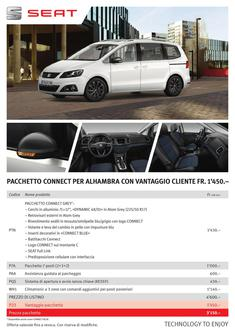 SEAT Alhambra CONNECT-Pack 2016 (Italienisch)
