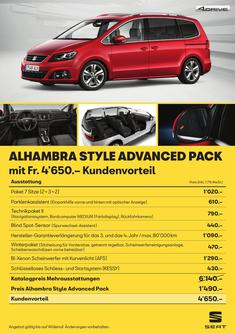 SEAT Alhambra Style Advanced Pack 2018