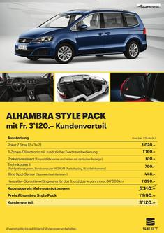 SEAT Alhambra Style Pack 2018