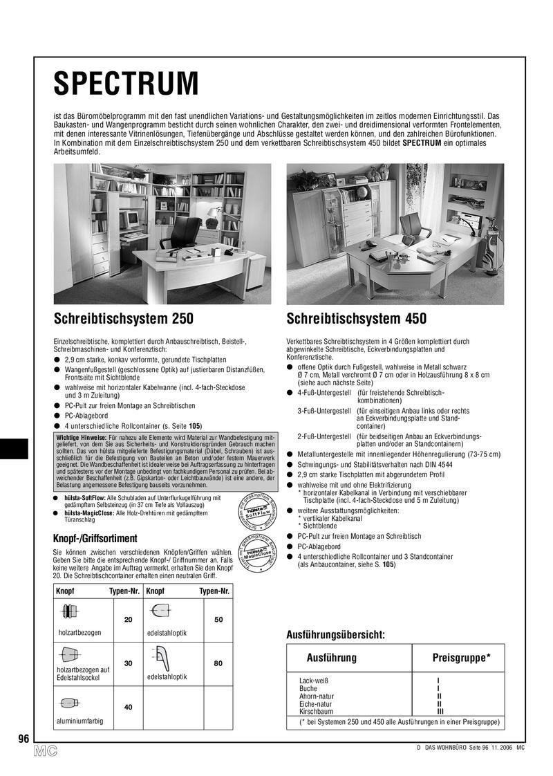 Spectrum Büromöbel Programm 2007 Von Hülsta