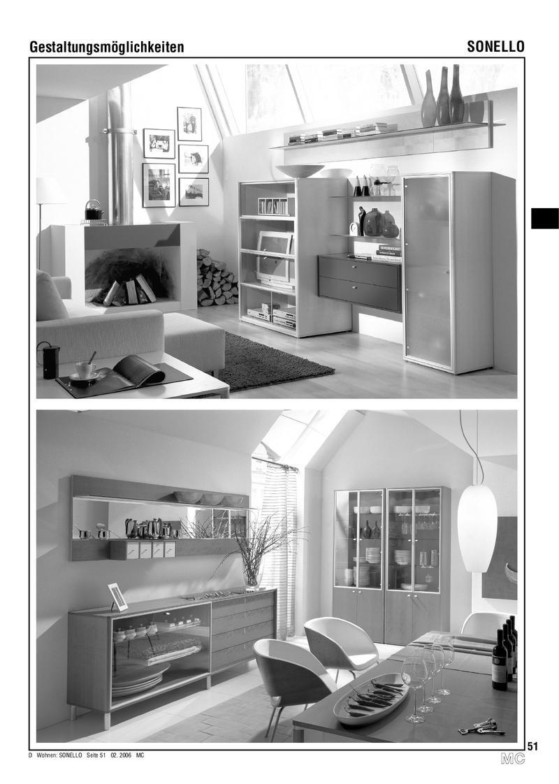 Sonello Ess Und Wohnzimmer Möbel Programm 2007 Von Hülsta