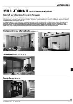 Multi-Forma II Dreh-, Falt- und Schiebetürenschränke Artikelliste 2012