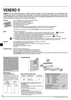 Venero II Schlafraumprogramm Aritkelliste 2012