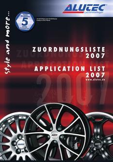 Zuordnungsliste 2007