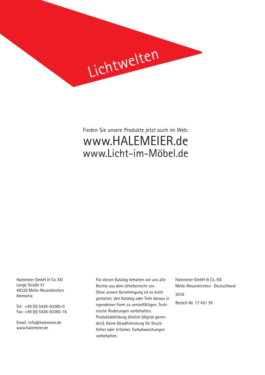 Lichtkatalog Magic By Halemeier 2017 Von Rudolf Ostermann Gmbh